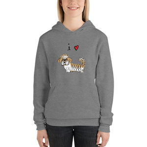 I Love Lhasas/Shih-Tzus Men's and Women's Bella and Canvas Hoodie