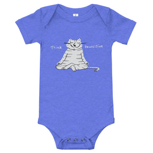 Cat meditating baby's onesie