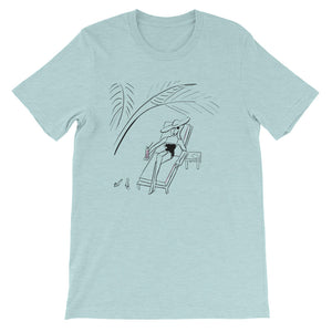 Under the Palm Leaves Men's and Women's T-Shirt
