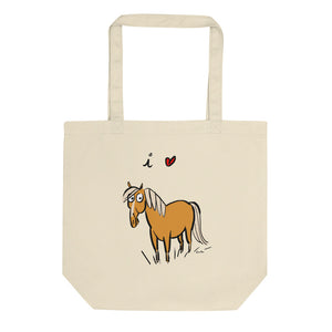 I Heart Horses Organic Cotton Eco Tote Bag