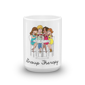 Group therapy girlfriends happy hour wine drinking
