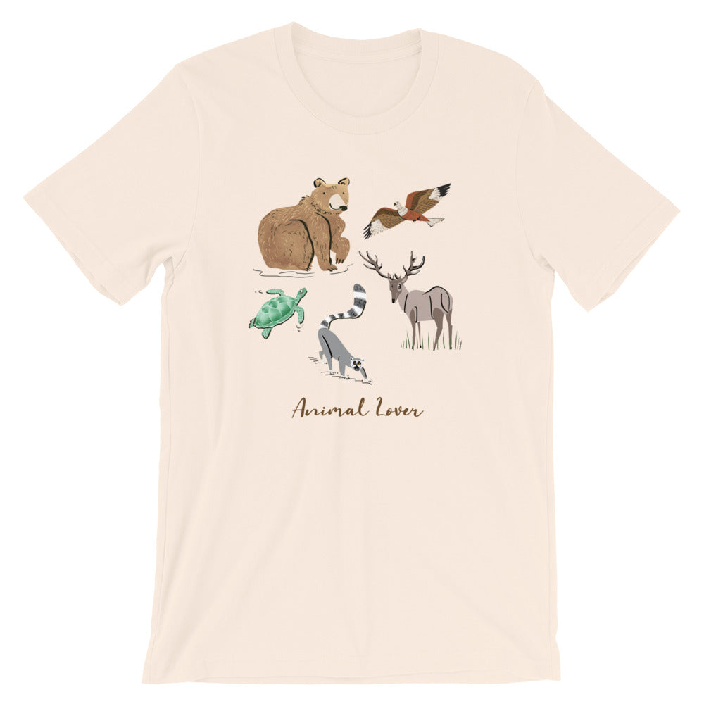 Animal Lover Bear Lemur Deer Elk mens and womens Hawk Turtle m t-shirt