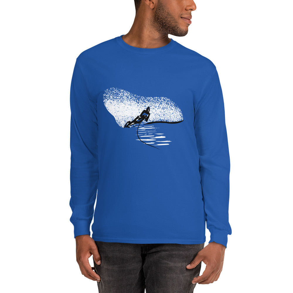 Water Skier Long Sleeve Cotton Shirt