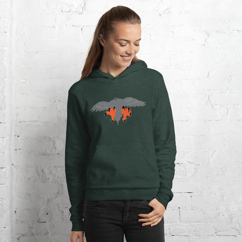 Falconry/Hawk Landing Women's and Men's Hoodie