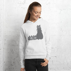 Gray Maine Coon Cat Unisex Hoodie