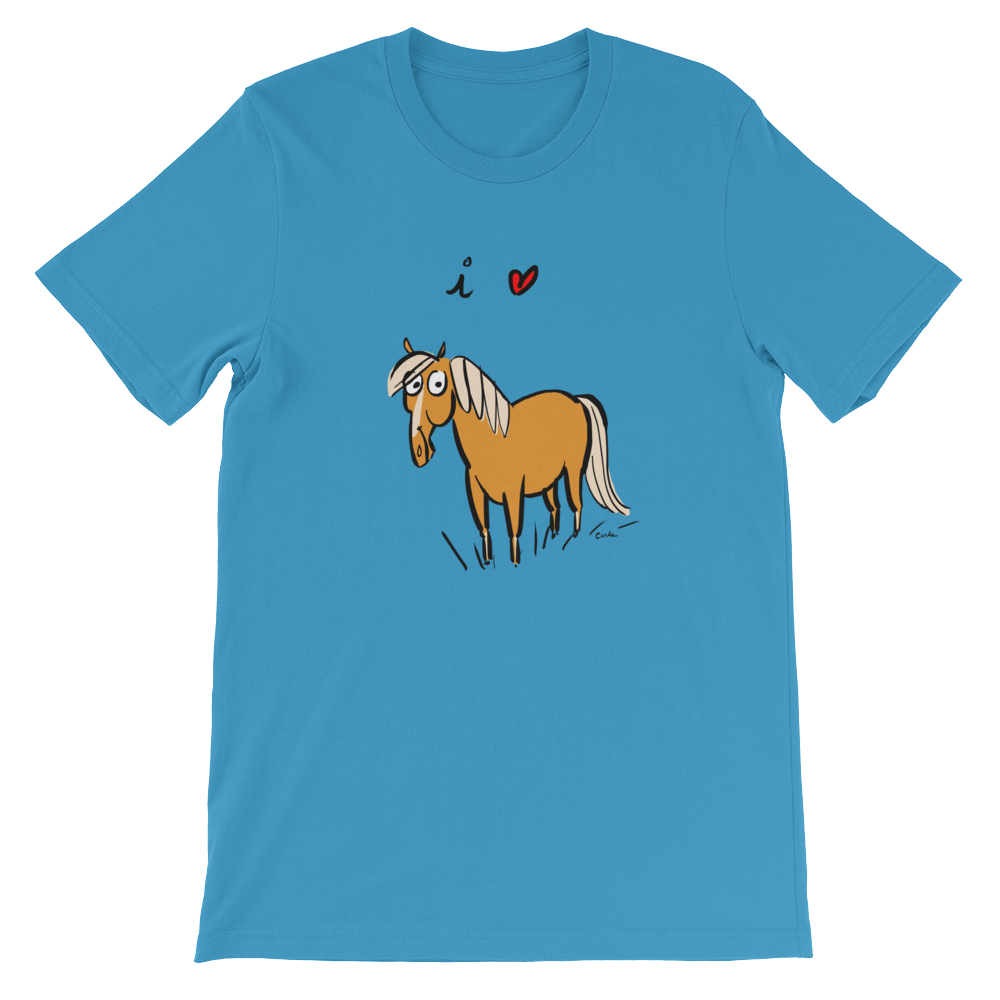 I Love Horses Short-Sleeve Unisex T-Shirt