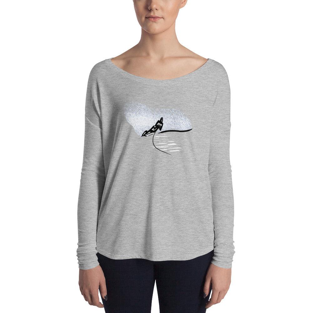 Women's Water Skier Long Sleeve Tee