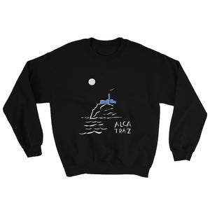 Alcatraz Island night tour mens womens black sweatshirt