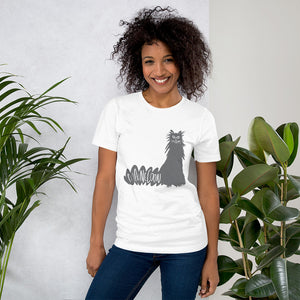 Gray Maine Coon Cat White t-shirt