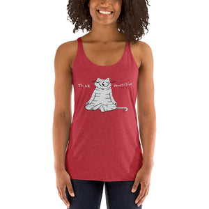 Think Pawsitive Next Level Women's Racerback Tank