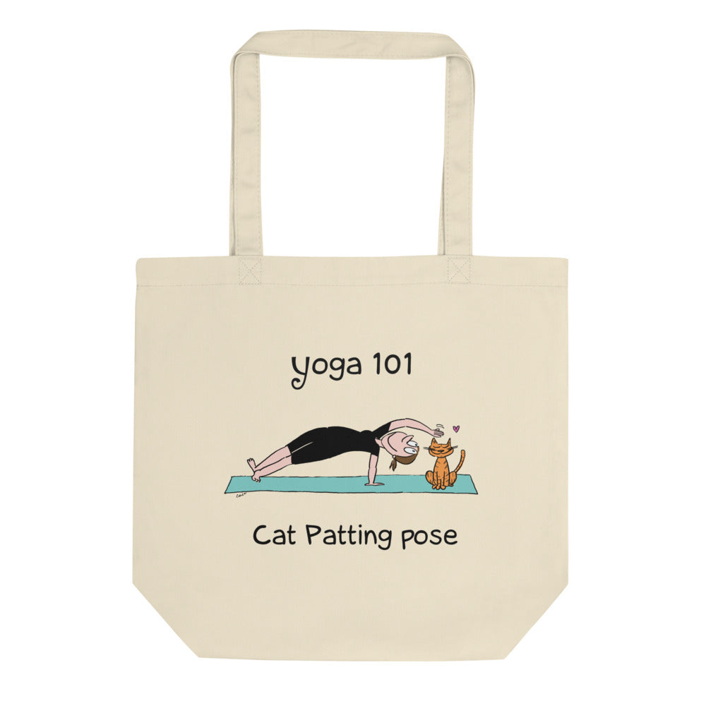 Funny yoga gift cat patting pose