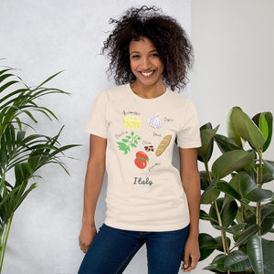 Italian Foods Travel Short-Sleeve Unisex T-Shirt