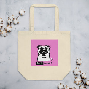Pug Lover Color Organic Cotton Eco Tote Bag