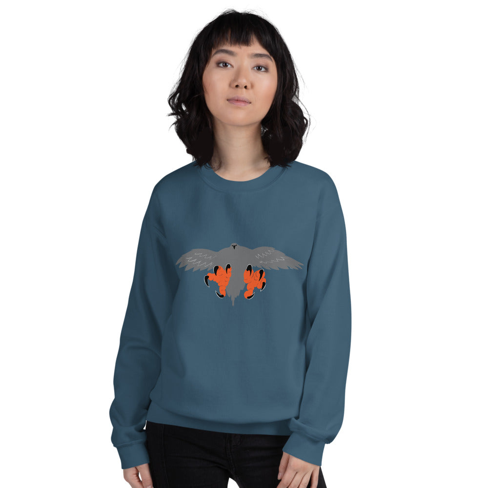 Falconry/Hawk Landing Men's and Women's Sweatshirt