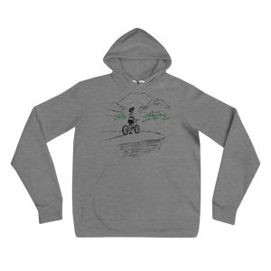 Woman Girl Mountain Biker hoodie Carla Miller Art