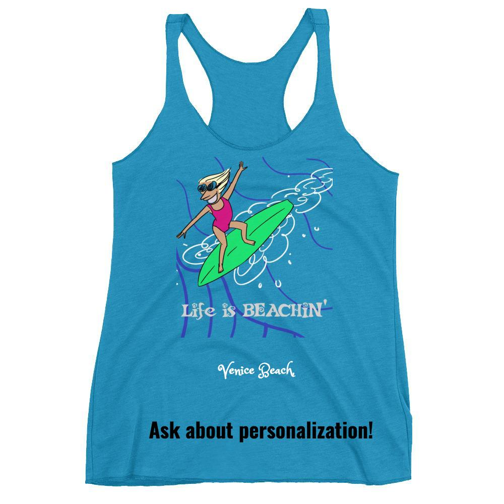 Life is Beachin' Racerback Tank Top