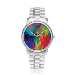 Colors of Music Stainless Steel Watch with Stainless Steel Watchband