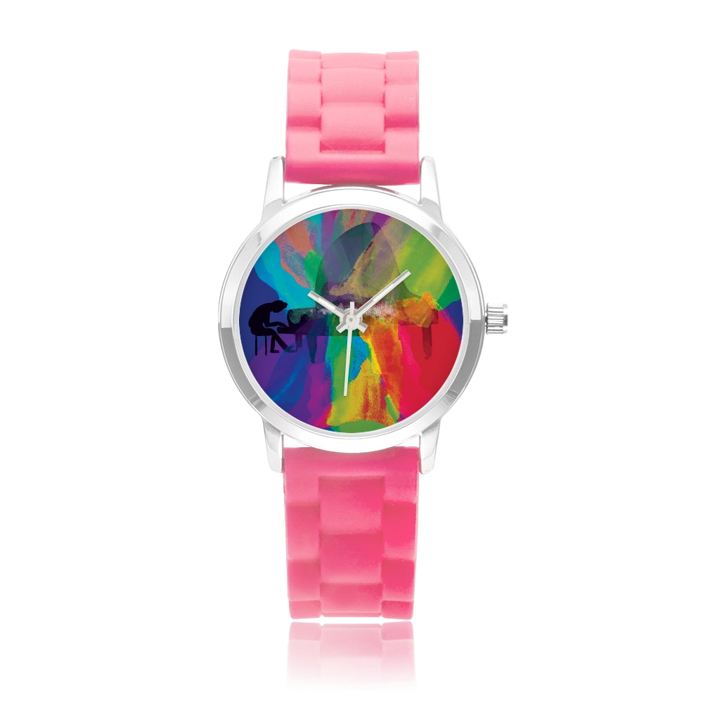 Colors of Music Kids' Stainless Steel Watch with Stainless Steel Watchband