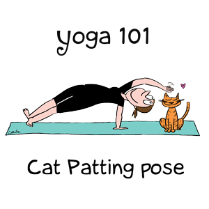 Yoga 101 Cat-Patting Pose Men's and Women's T-Shirt