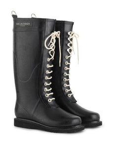 Welintons Uchel Du | Black Tall Wellingtons