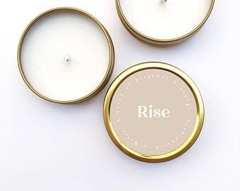Cannwyll Rise | Rise Candle
