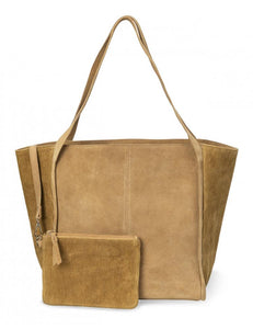Bag a phwrs swêd | Suede shopper and purse