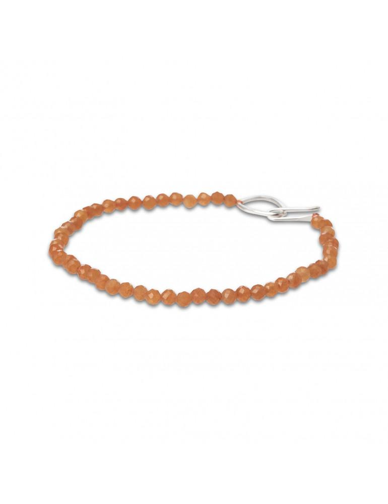 Breichled oren | Orange beaded bracelet