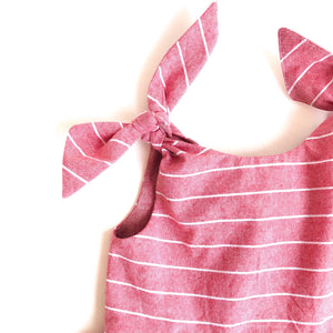 The Emily Tie Shoulder Dress in Cotton - Fauves Kids