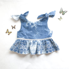 Load image into Gallery viewer, Little Girls Emily Tie Ruffle Top - Fauves Kids