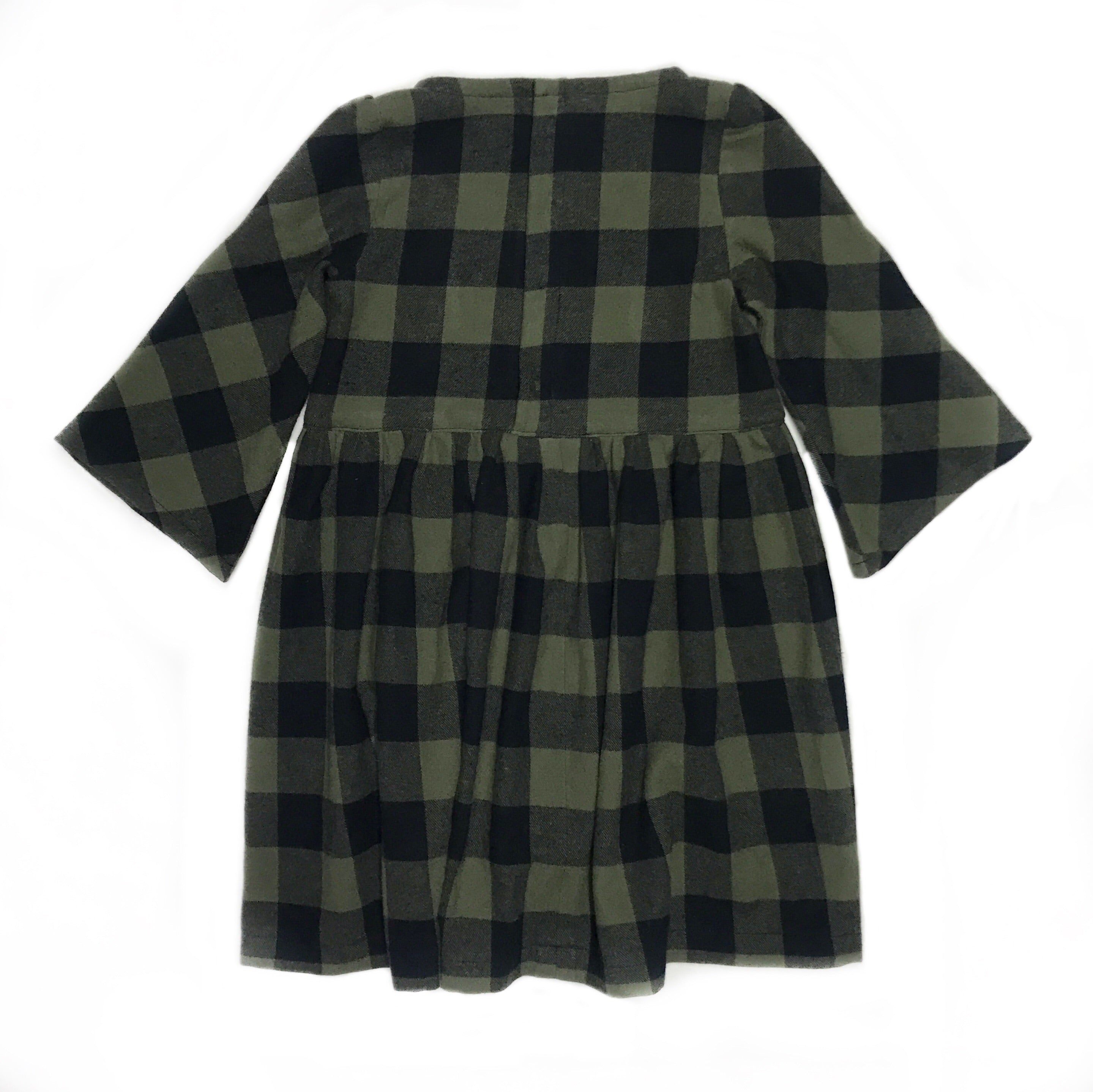Girls Check Flannel Remi Dress: Size 6x