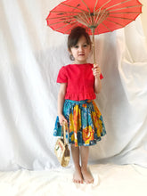 Load image into Gallery viewer, Dottie single Ruffle crop top in red - Fauves Kids