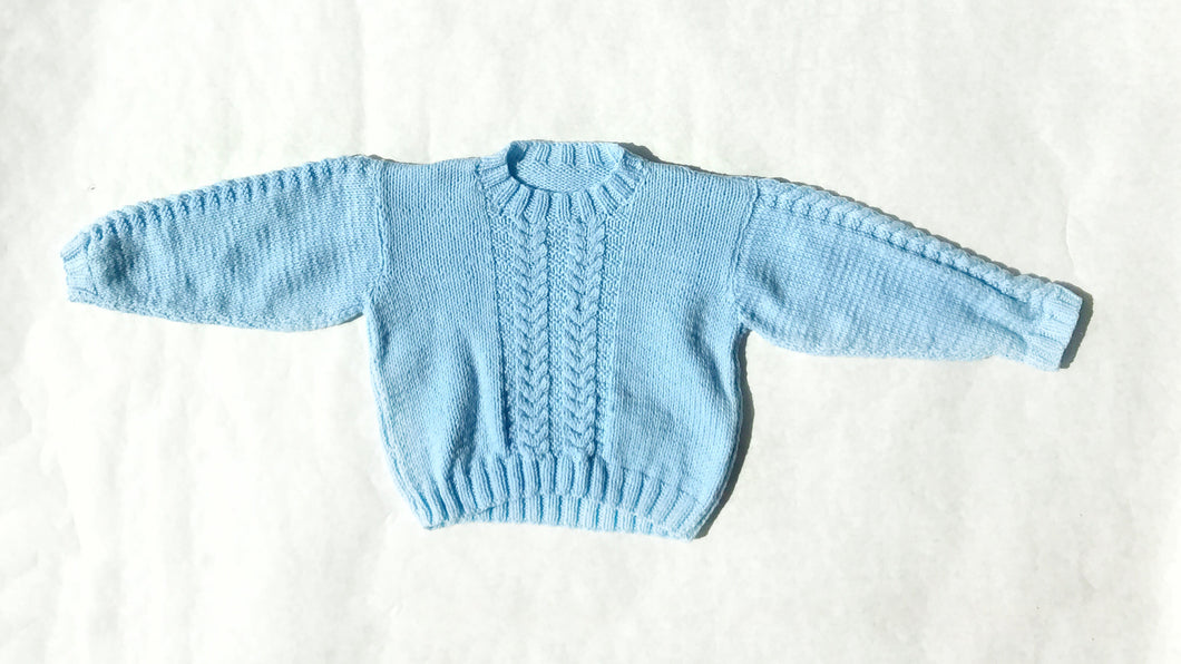 Vintage crew neck cable knit sweater - Fauves Kids