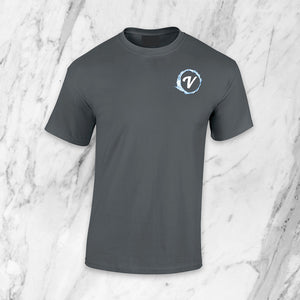 Unisex Short Sleeve ViDrate Lounge T-Shirt Charcoal