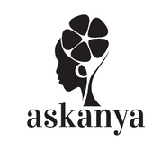 Askanya Chocolate Logo - A lady with a cross-cut of a cacao pods and Askanya written under