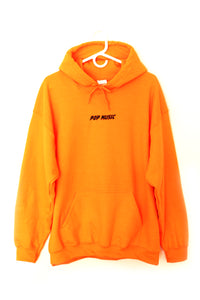 POP MUSIC orange hoodie