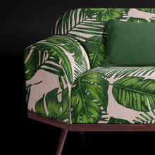 Green Botanical Print Sofa