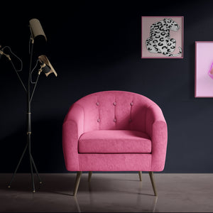 Bright Pink Occasional Chair