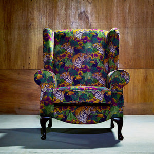 Jungle Print Accent Chair