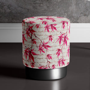 Large Mapleleaf Print Pouffe