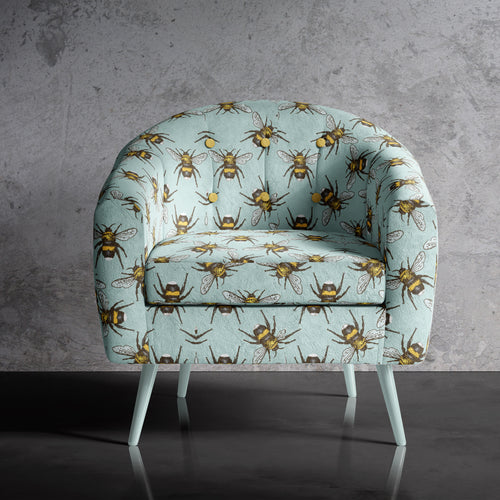 Bee Print Occasional Chair