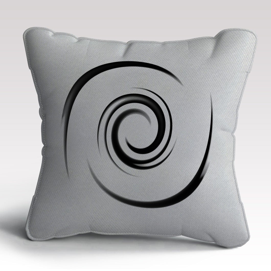 White Whirl Cushion by Michael Banks