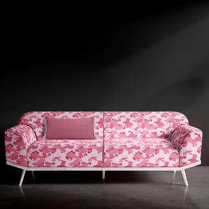 Pink Camouflage Print Sofa