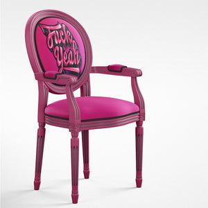 pink french style chair