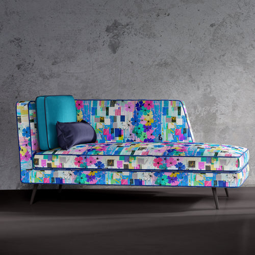 Watercolour Floral Print Chaise