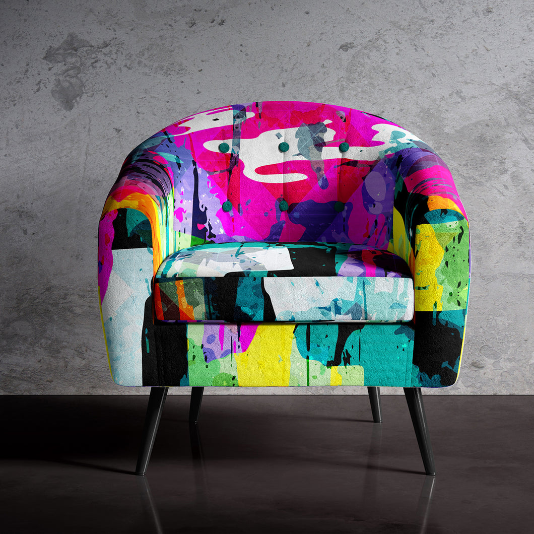 Retro Print Occasional Chair