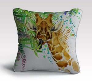 Giraffe Illustration Cushion