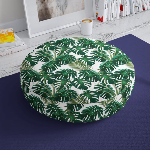 Botanical Print Floor Cushion