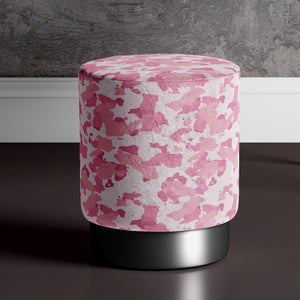 Large Camouflage Print Pouffe