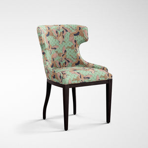 Crane Print Dining Chair