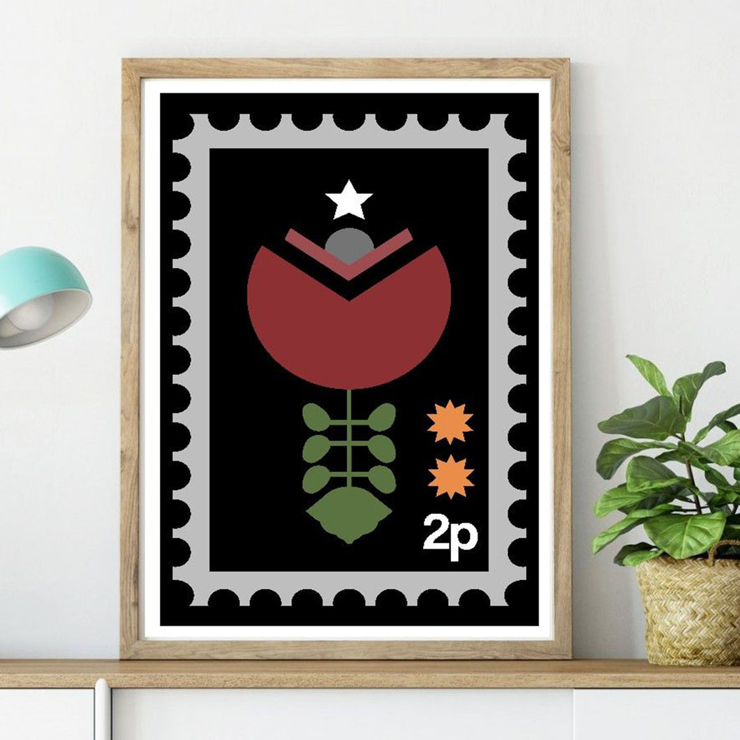 Folk Stamp Flower
